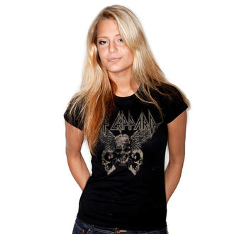 tričko dámske Def Leppard - Flying Skulls - Black - HYBRIS, HYBRIS, Def Leppard