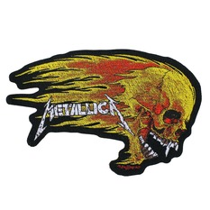 nášivka METALLICA - FLAMING SKULL CUT OUT - RAZAMATAZ, RAZAMATAZ, Metallica