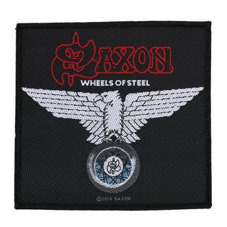 nášivka SAXON - WHEELS OF STEEL - RAZAMATAZ, RAZAMATAZ, Saxon