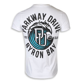 tričko pánske Parkway Drive - Wave - White - KINGS ROAD