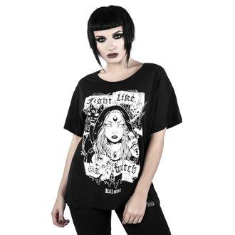 tričko dámske KILLSTAR - FIGHT LIKE A WITCH - BLACK, KILLSTAR