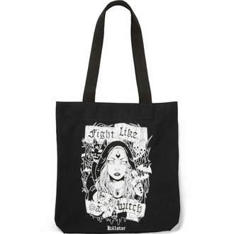 taška (kabelka) KILLSTAR - FIGHT LIKE A WITCH TOTE - BLACK, KILLSTAR