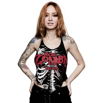 tielko dámske KILLSTAR - ROB ZOMBIE - Foxy Bones Rocker - BLACK, KILLSTAR, Rob Zombie