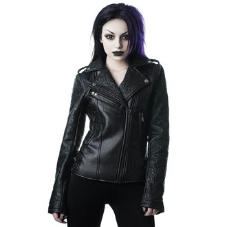 bunda dámska (křivák) KILLSTAR - Graveyard Shift Biker - BLACK, KILLSTAR
