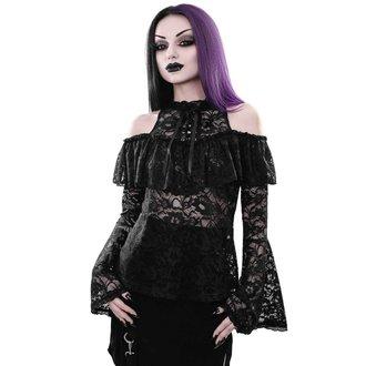 tričko dámske s dlhým rukávom (blúzka) KILLSTAR - GRETA MAIDEN - BLACK, KILLSTAR
