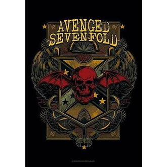 vlajka Avenged Sevenfold - Death Crest, HEART ROCK, Avenged Sevenfold