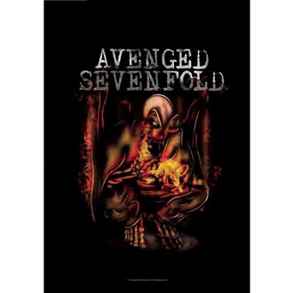 vlajka Avenged Sevenfold - Fire Bat, HEART ROCK, Avenged Sevenfold