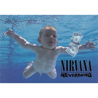vlajka Nirvana - Nevermind, HEART ROCK, Nirvana