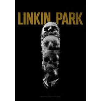vlajka Linkin Park - Living - Skull Totem, HEART ROCK, Linkin Park