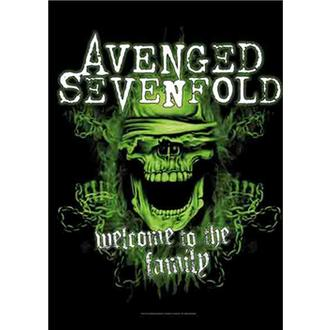 vlajka Avenged Sevenfold - Welcome to the Family, HEART ROCK, Avenged Sevenfold