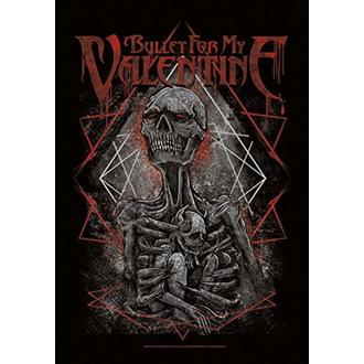 vlajka Bullet For my Valentine - Skeleton, HEART ROCK, Bullet For my Valentine
