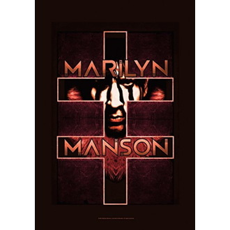 vlajka Marilyn Manson - Double Cross, HEART ROCK, Marilyn Manson