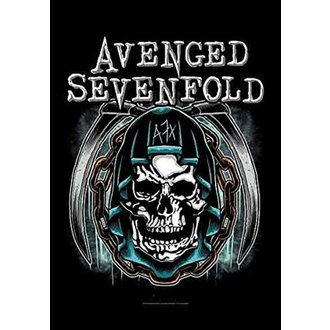vlajka Avenged Sevenfold - Holy Reaper, HEART ROCK, Avenged Sevenfold