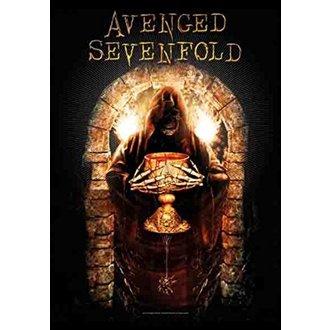 vlajka Avenged Sevenfold - Golden Arch, HEART ROCK, Avenged Sevenfold