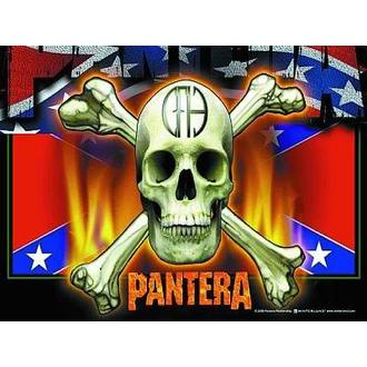 vlajka Pantera - Flag & Skull, HEART ROCK, Pantera