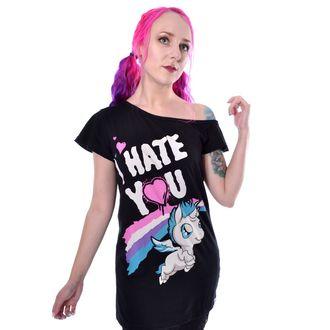 tričko dámske Cupcake Cult - HATE YOU - BLACK, CUPCAKE CULT