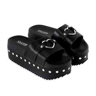 topánky dámske (sandále) KILLSTAR - I HEART METAL SLIDES - BLACK, KILLSTAR