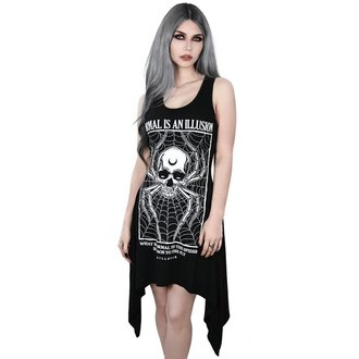 šaty dámske KILLSTAR - ILLUSION LACED UP - BLACK, KILLSTAR