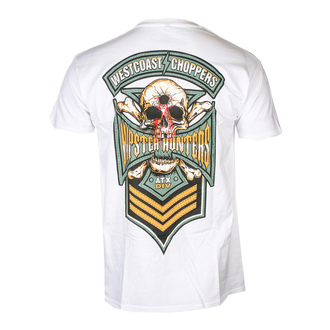 tričko pánske WEST COAST CHOPPERS - HIPSTER HUNTERS - Solid White, West Coast Choppers