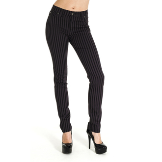 nohavice (unisex)- 3RDAND56th - Striped Skinny Jeans - Blk / Grey, 3RDAND56th