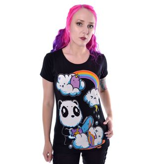 tričko dámske Killer Panda - CLOUDS - BLACK, KILLER PANDA