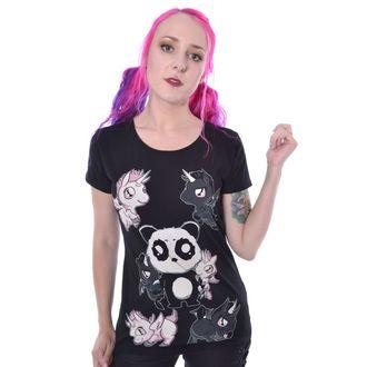tričko dámske KILLER PANDA - KILLER UNICORNS - BLACK, KILLER PANDA