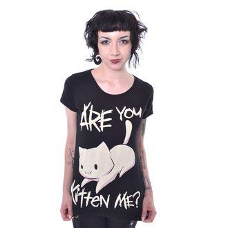 tričko dámske Cupcake Cult - KITTEN ME - BLACK, CUPCAKE CULT