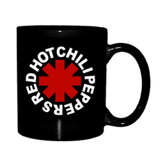 hrnček Red Hot Chili Peppers - Astrisk Logo - Black, Red Hot Chili Peppers