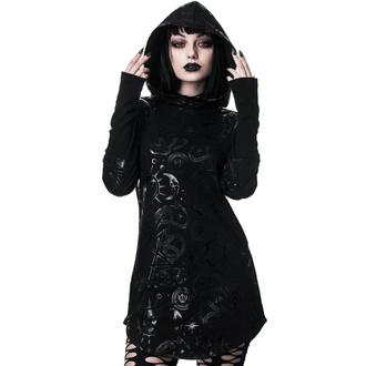 tričko dámske s dlhým rukávom (tunika) KILLSTAR - Lift The Veil - BLACK - KSRA001574