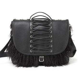 kabelka (taška) KILLSTAR - LOKE FUR - BLACK, KILLSTAR