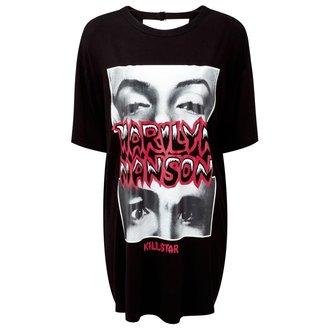 tričko dámske (tunika) KILLSTAR - MARILYN MANSON - Look Into My Eyes - Black - K-DRS-F-2509