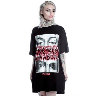 tričko dámske (tunika) KILLSTAR - MARILYN MANSON - Look Into My Eyes - Black, KILLSTAR, Marilyn Manson