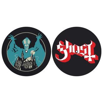 podložka na gramofón (set 2ks) GHOST - OPUS EPONYMOUS - LOGO - RAZAMATAZ, RAZAMATAZ, Ghost