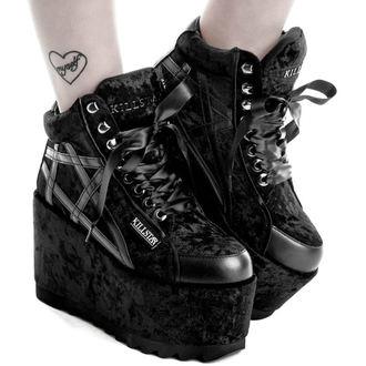 topánky dámske KILLSTAR - MALICE PLATFORM TRAINERS - BLACK, KILLSTAR