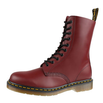 topánky DR. MARTENS - 10 dierkové - 1490 Smooth - Cherry Red, Dr. Martens