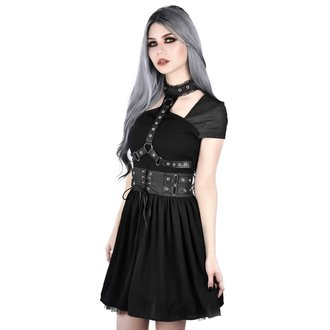 šaty dámske KILLSTAR - MIDNIGHT MUSE HARNESS - BLACK, KILLSTAR
