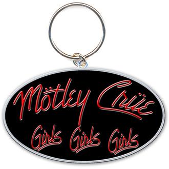 kľúčenka - prívesok Mötley Crüe (Girls, Girls, Girls Logo) - ROCK OFF, ROCK OFF, Mötley Crüe
