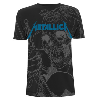 tričko pánske Metallica - Japanese - Justice Black - RTMTLTSBJAP