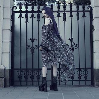 šaty dámske KILLSTAR - NEW MOON MAIDEN - BLACK - KSRA000192
