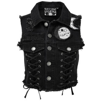 vesta dámska KILLSTAR - PHASED OUT DENIM - BLACK, KILLSTAR