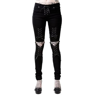 nohavice dámske KILLSTAR - PHASED OUT JEANS - BLACK, KILLSTAR