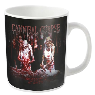 hrnček CANNIBAL CORPSE - BUTCHERED - White - PLASTIC HEAD, PLASTIC HEAD, Cannibal Corpse