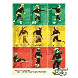 plagát Bob Marley (Football) - PP30504, PYRAMID POSTERS, Bob Marley