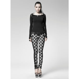 tričko dámske s dlhým rukávom PUNK RAVE - Soliaris - black - PT-018-bk
