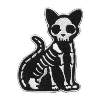 nažehlovačka (nášivka) KILLSTAR - Purr Bones - BLACK, KILLSTAR