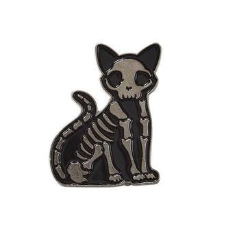 pripináčik KILLSTAR - Purr Bones - BLACK, KILLSTAR