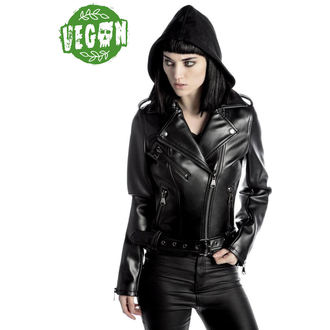 bunda dámska (křivák) KILLSTAR - Ruth Less Veganomicon Biker - Black, KILLSTAR