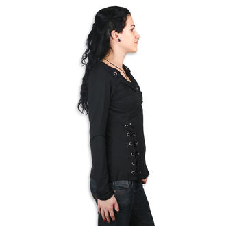 tričko dámske s dlhým rukávom Poizen Industries - REEF - BLACK, POIZEN INDUSTRIES