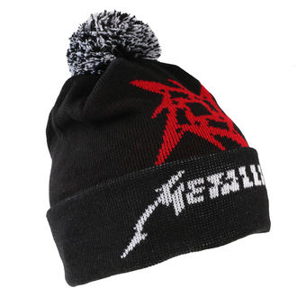čiapka Metallica - Glitch Star Logo - Black Woven Bobble, Metallica