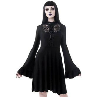 šaty dámske KILLSTAR - Sabrina Ruffle - BLACK